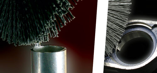 Brushes in Abrasive Nylon for deburring tubes and profiles