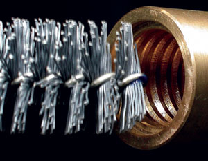 Tube Brush in Abrasive Nylon for holes deburring