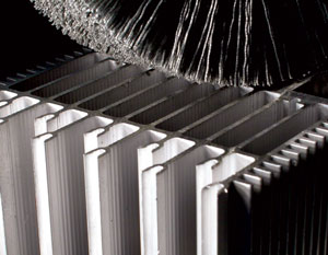 Brush in Abrasive Nylon for deburring of extruded profiles in aluminum