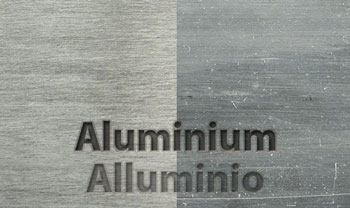 Example of brushing of aluminum