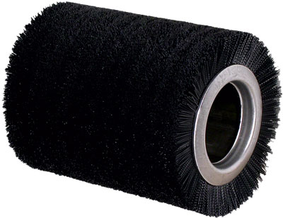 Cylindrical brush in filament of nylon for building the lower layer of the tyre
