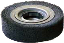 Brush wheel for manual deburring machines