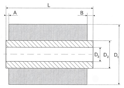 Technical Drawing of Cylindrical Punched Brush
