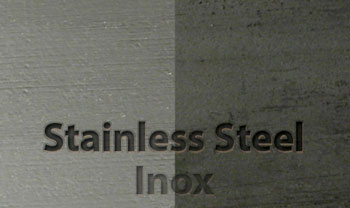 Stainless steel surface brushed with SIT brushes
