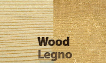 Wood brushed with SIT brushes in abrasive nylon