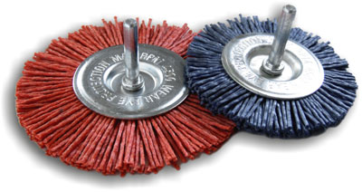 G100A and G75B circular brushes abrasive