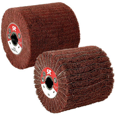 Abrasive rollers for brushing machines Flex SIT