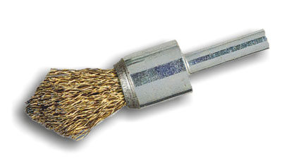 P15 end brush in steel