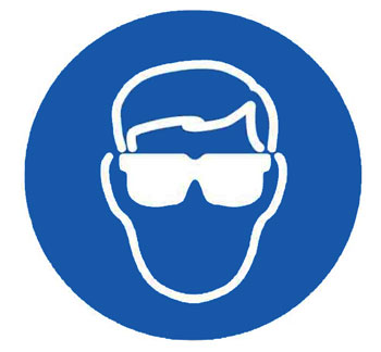 Warning signal that goggles must be put on by SIT