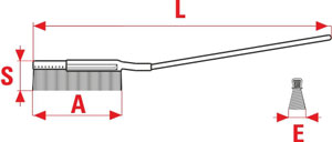 Technical Drawing of Hand Brushes