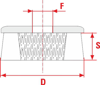 Technical Drawing of frontal cup TFP SIT