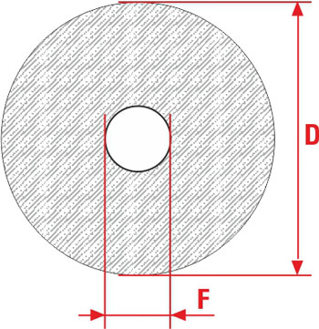 Technical Drawing of Discs for Pickling DN and RN SIT