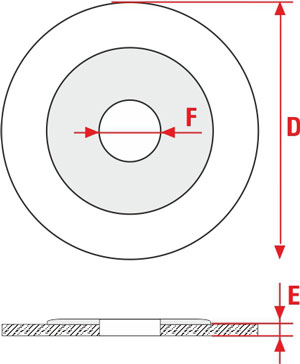 Technical Drawing of cut discs and deburring DT and DS SIT